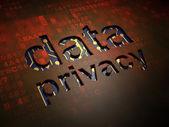 Concepto de privacidad: privacidad de datos en fondo de pantalla digital — Foto de Stock