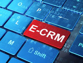 Business concept: E-CRM on computer keyboard background — Stock Photo