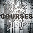 Stock Photo: Education concept: circuit board with Courses