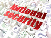 Protection concept: National Security on alphabet background — Stock Photo