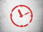 Time concept: Clock on wall background — Stock Photo
