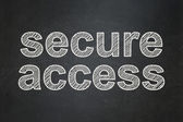 Security concept: Secure Access on chalkboard background — Stock Photo