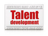 Education concept: newspaper headline Talent Development — Stock Photo