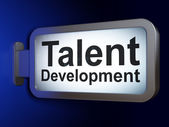 Education concept: Talent Development on billboard background — Stock Photo