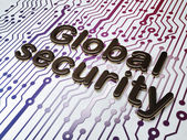 Security concept: Global Security on Circuit Board background — Stock Photo