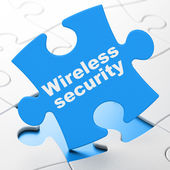 Security concept: Wireless Security on puzzle background — Stock Photo