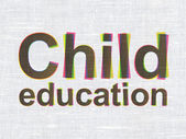 Education concept: Child Education on fabric texture background — Stock Photo