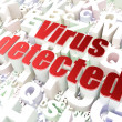 Foto Stock: Security concept: Virus Detected on alphabet background