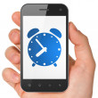 Timeline concept: Alarm Clock on smartphone — Stock Photo