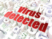 Security concept: Virus Detected on alphabet background — Stock Photo