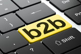 Business concept: B2b on computer keyboard background — Stock Photo