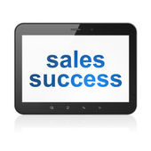 Advertising concept: Sales Success on tablet pc computer — Stock Photo