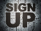 Web development concept: circuit board with Sign Up — Stock Photo