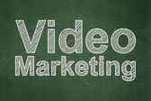 Business concept: Video Marketing on chalkboard background — Stock Photo