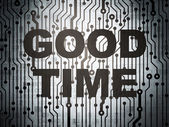 Timeline concept: circuit board with Good Time — Stock Photo