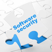 Privacy concept: Software Security on puzzle background — Stock Photo