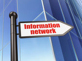Information concept: sign Information Network on Building background — Stock Photo