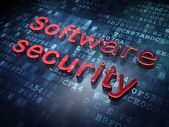 Security concept: Red Software Security on digital background — Stock Photo