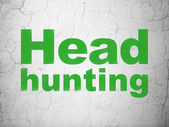 Finance concept: Head Hunting on wall background — Stock Photo