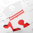 Stock Photo: Finance concept: Procurement Management on puzzle background