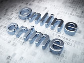 Security concept: Silver Online Crime on digital background — Stock Photo
