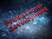 Education concept: Red Professional Development on digital background — Stock Photo