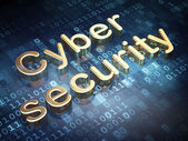 Safety concept: Golden Cyber Security on digital background — Stock Photo