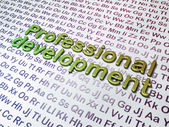 Education concept: Professional Development on Alphabet background — Stock Photo