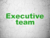 бизнес-концепция: исполнительной команды на фоне стены — Стоковое фото