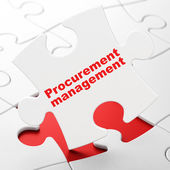 Finance concept: Procurement Management on puzzle background — Stock Photo