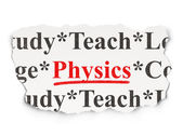 Education concept: Physics on Paper background — Stock Photo