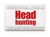 Business concept: newspaper headline Head Hunting — Stock Photo