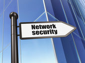 Safety concept: sign Network Security on Building background — Stock Photo