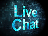 SEO web design concept: Live Chat on digital background — Stock Photo