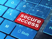 Privacy concept: Secure Access on computer keyboard background — Stock Photo