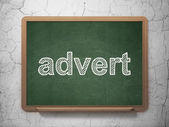 Advertising concept: Advert on chalkboard background — Stock Photo