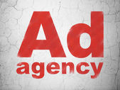 Marketing concept: Ad Agency on wall background — Stock Photo