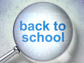 Education concept: Back to School with optical glass — Stock Photo