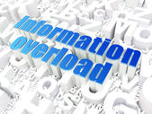 Information concept: Information Overload on alphabet background — Stock Photo
