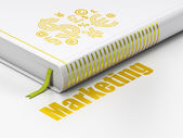 Marketing concept: book Finance Symbol, Marketing on white background — Stock Photo