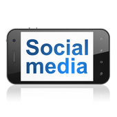 Social media concept: Social Media on smartphone — Stock Photo