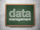 Data concept: Data Management on chalkboard background — Stock Photo
