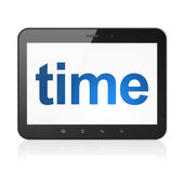 Time concept: Time on tablet pc computer — Stock Photo