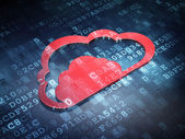 Cloud technology concept: Red Cloud on digital background — Stock Photo
