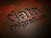 Information concept: Data Migration on digital screen background — Stock Photo