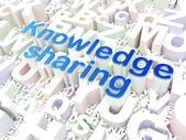 Education concept: Knowledge Sharing on alphabet background — Stock Photo