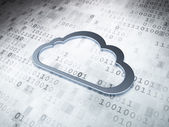 Cloud technology concept: Silver Cloud on digital background — Stock Photo