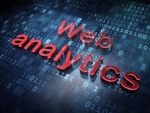 Web development concept: Red Web Analytics on digital background — Stock Photo