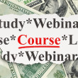 Education concept: Course on Money background — Zdjęcie stockowe #40999395