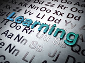 Education concept: Learning on Alphabet background — Stock Photo
